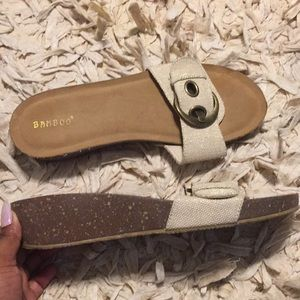 Bamboo slides with Gold buckle 11